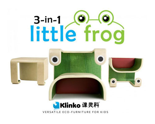 Modern Kids Furniture 3-in-1 Little Frog