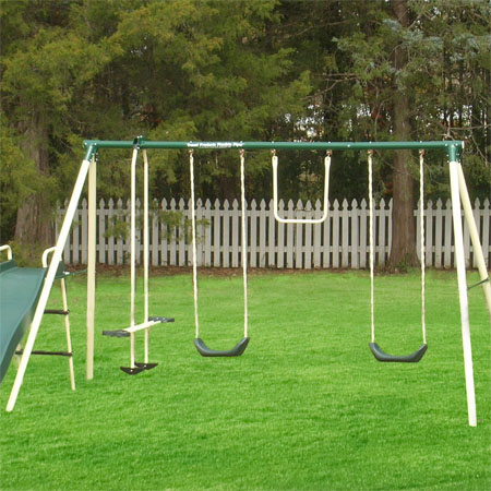 6 Station Backyard Swing Set Would Be An Enjoyable Place ...