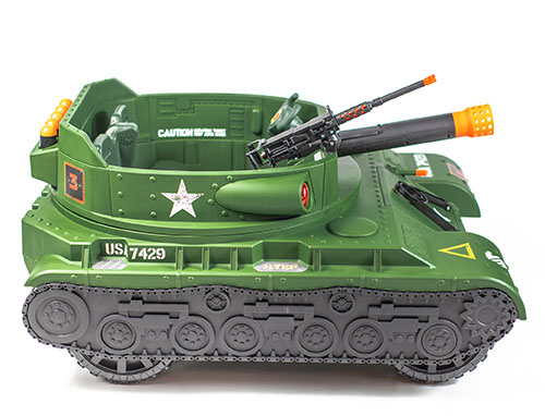 Action Wheels Thunder Tank Ride-On Features Real Working Cannon and Rotating Turret!
