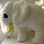 Alex - An organic and friendly stuffed elephant