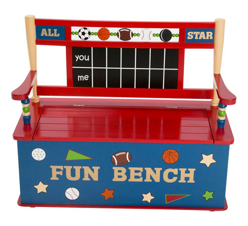 All Star Sports Toy Box Bench from Levels of Discovery