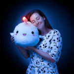 Cute Anglerfish Light-Up Plush with a LED Light in Its Dorsal Fin