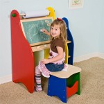 Art Activity Desk Provides A Great Place Of Painting And Drawing For Your Kids