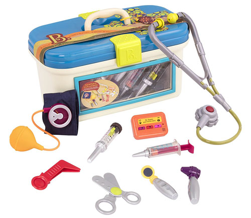 B. Dr. Doctor Toy Medical Kit for Kids Pretend Play (9 pieces) for Little Doctor