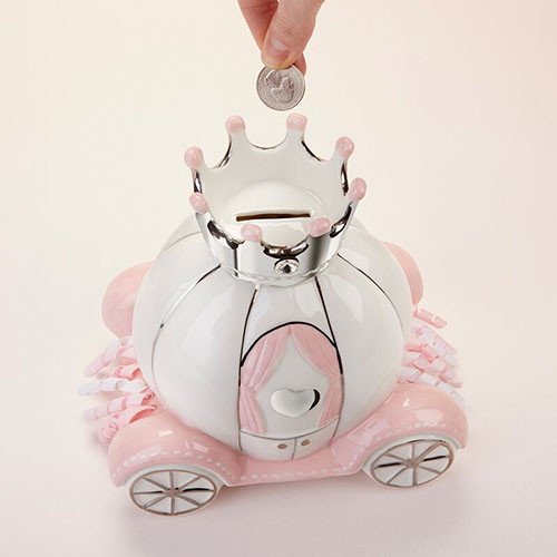 Baby Aspen Little Princess Ceramic Piggy Bank