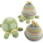 Baby Aspen Turtle Toppers Baby Hat and Turtle Plush Gift Set to Keep Your Baby Warm In Colder Weather