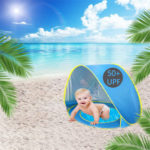 Baby Beach Tent With Removable Little Pool Keeps Your Baby Safe from Seaside