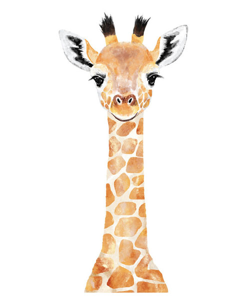 Baby Giraffe by Cass Loh - Animal Arts for Baby Nursery