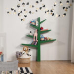 Modern Babyletto Spruce Tree Bookcase Adds Playful Touch In Children's Room