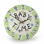 Add beauty to baby's room with this cute wall clock