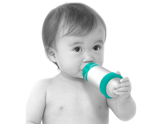 BittyLab BARE Air-Free Baby Bottle Mimics Mom's Breast Entirely