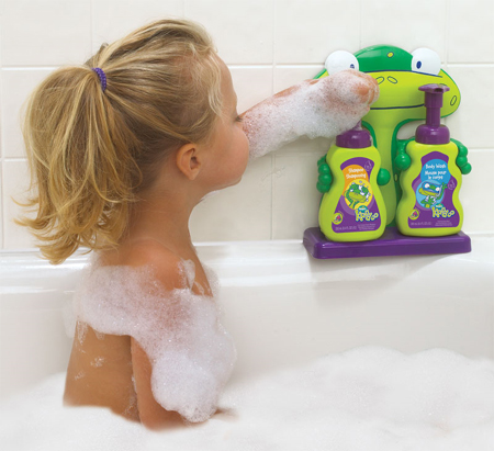 beautiful and functional baby shampoo and body wash holder