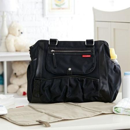 black studio diaper tote
