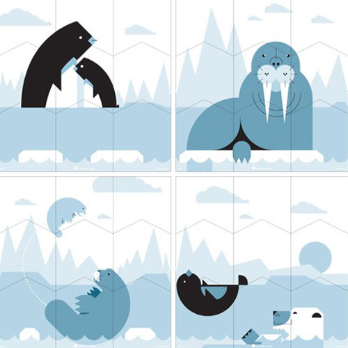 Blik Polar Wall Puzzle - Blik Wall Puzzle