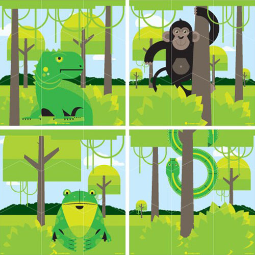 Blik Rainforest Wall Puzzle - Blik Wall Puzzle