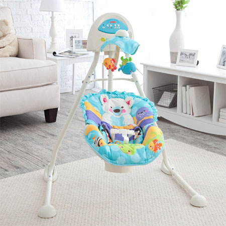 Blue Sky Cradle Baby Swing Can Turn Your Nursery Into A Little Piece Of Sky