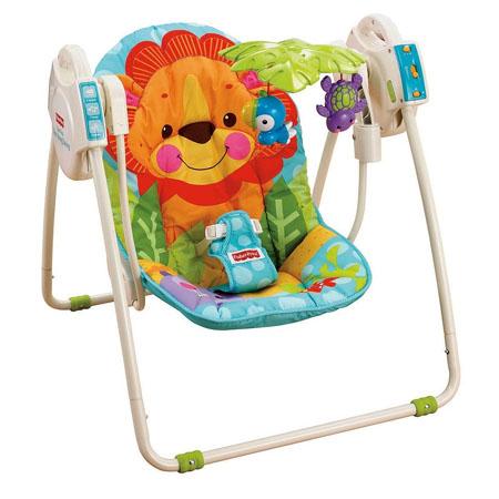 blue sky portable baby swing