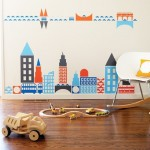 Boodalee City Wall Stickers for Modern Nursery Decor
