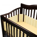 Breathable Baby Crib Bumper Reduces The Risks of Suffocation, Entanglement and Climbing