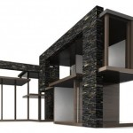 Modern Brinca Dada Edward House Dollhouse Features Hardwood Floors and Beautiful Glass Corners