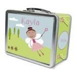 Brown Hair Fairy Personalized Lunch Box by Pink Taffy Designs