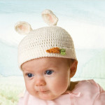 Adorable Bunnies by the Bay 0-3 Months Bunny Beanie and Bootie Gift Set with Little Crochet Baby Carrot