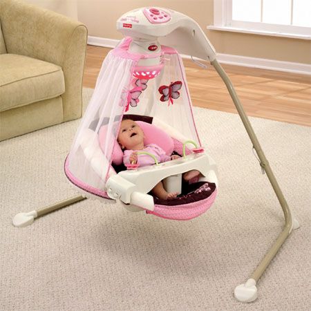 Butterfly Cradle Baby Swing Offers An Excellent Place Of