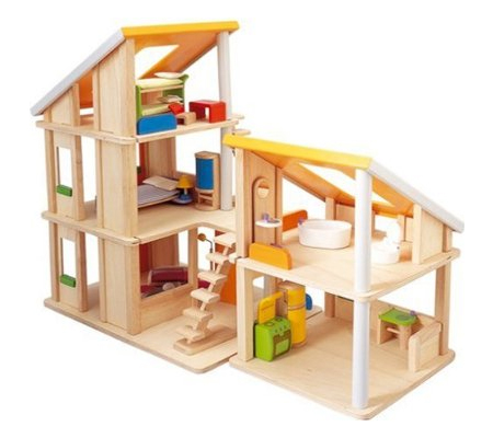 Plan Toys Chalet Dollhouse with Furniture | Modern Baby Toddler ...