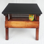 Childrens' Furniture Chalkboard Game Table Activity Is Handcrafted from Recycled Wood