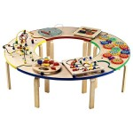 Circle Of Fun Activity Table Is A Center Of Fun For Adventure Loving Kids