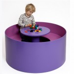 Circle Table Can Keep Your Kids Busy with Their Buddies