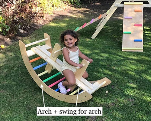 Climbing Arch and Swing In One by HomeforDreams