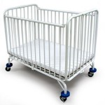 Compact Folding Metal Crib Saves A Lot Of Your Interior Space
