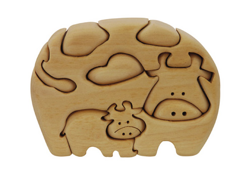 Cow & Calf Wood PuzzleMe Up Puzzle