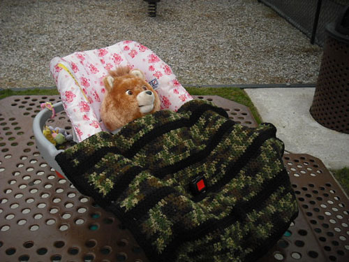 Camo stroller carseat baby blanket - Camouflage Stroller and Carseat Cover
