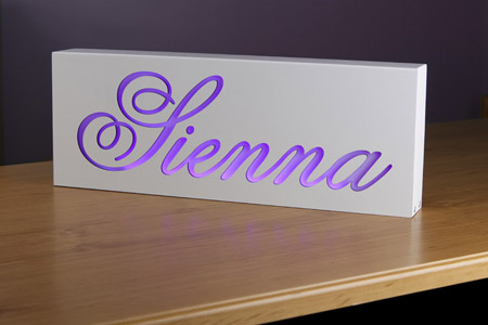 Custom Lightbox and Night Light for Your Kid's Bed Room