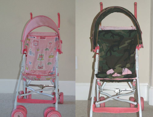 Customized Kids Strollers - Camouflage Stroller and Carseat Cover