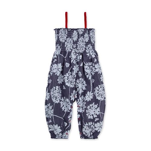 Dandelion Field Organic Baby Smocked Jumpsuit