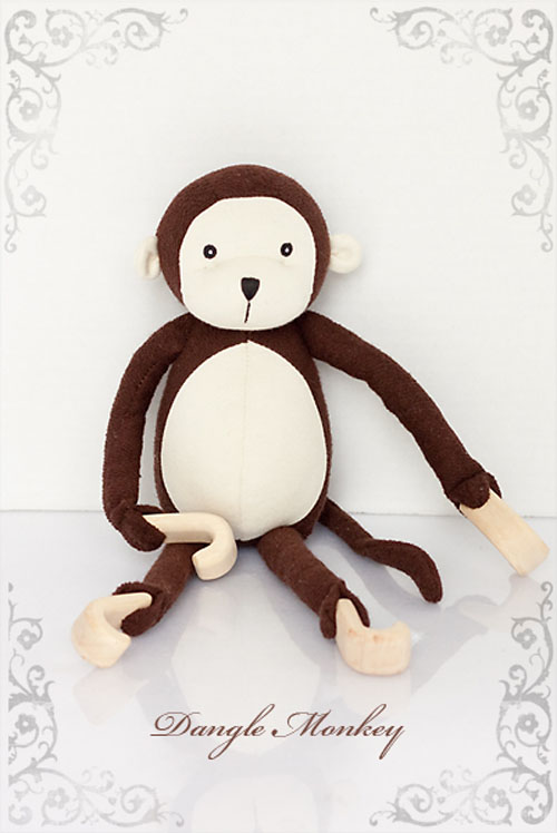 Jasper's Jungle Toy Collection Dangle Monkey