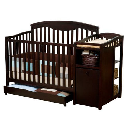 Modern and Stylish Delta Shelby Crib and Changer For The Nursery