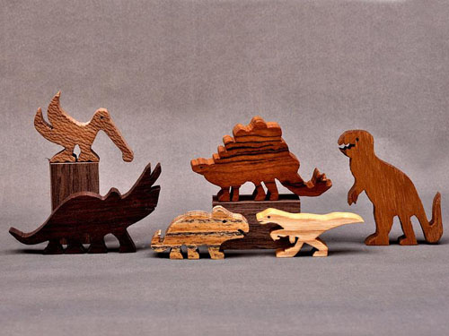 Dinosaur Animal Wooden Block Play Set
