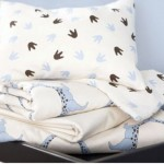 Dinosaur Print Organic Crib Bedding Gives Soothing Bed Time to Kids