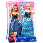 Disney Frozen Anna and Elsa Fashion Doll with Tiara and Shoes