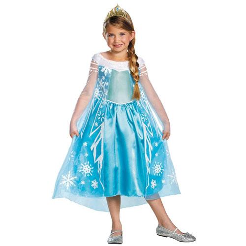 Top 20 Kids Halloween Costumes - Disney's Frozen Elsa Deluxe Girl's Costume