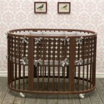 Modern Baby Crib : Dwellstudio Oval Crib Set in Chocolate Dots
