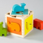Modern and Sustainable Dwell Studio Zoo Shape Sorter Toy