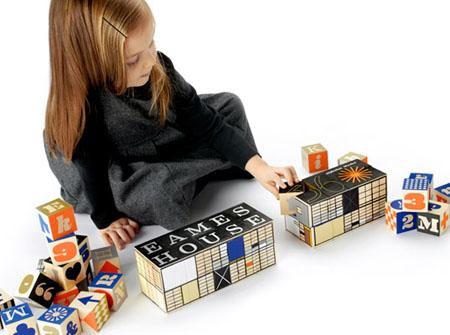 Eames House Alphabet Blocks for Modern Tots