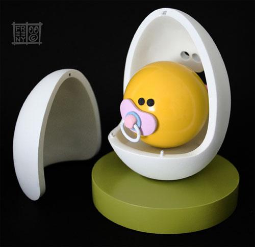 Egg Head & Baby Yolkel by Jason Freeny