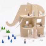Ele Villa Dollhouse: Elephant Shaped Dollhouse with 8 Rooms