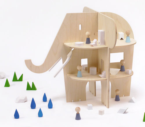Ele Villa Dollhouse by Rock and Pebble